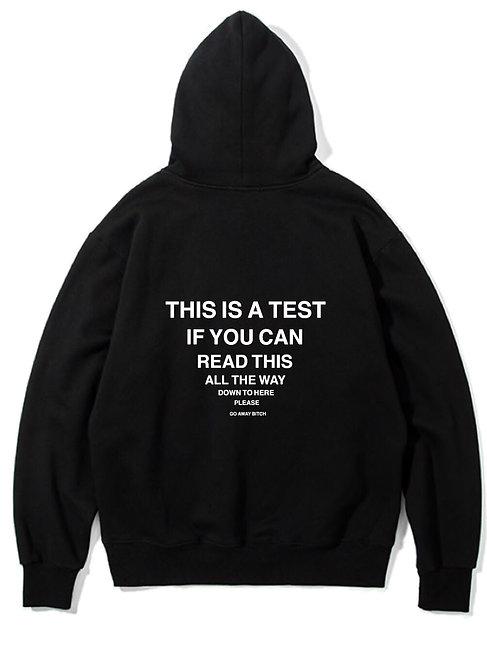 Test Hoodie Black