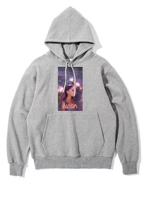 Ariana Grande Nasa Hoodie Grey