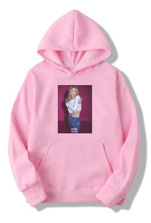 Gigi Hadid Hoodie Pink