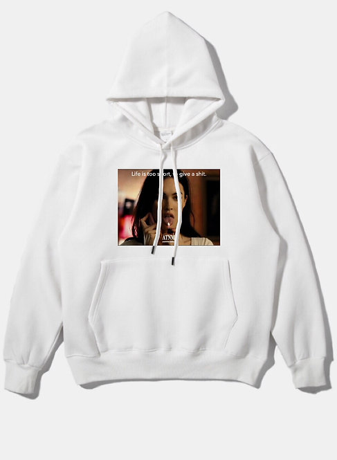 Don't Give A Shit Hoodie White