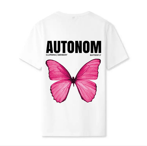 Back Pink Butterfly Shirt