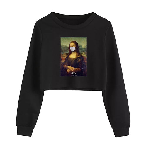 Protect Mona Crop Crewneck Black