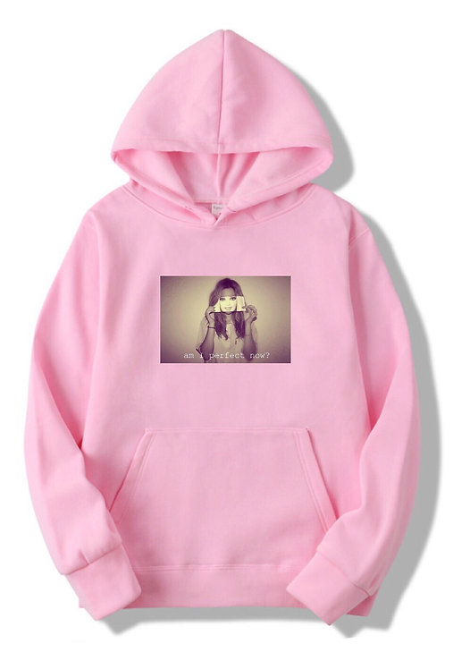 Am I Perfect Hoodie Pink