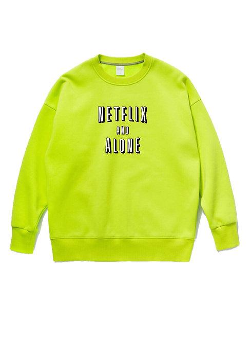 Netflix & Alone Crewneck Neon