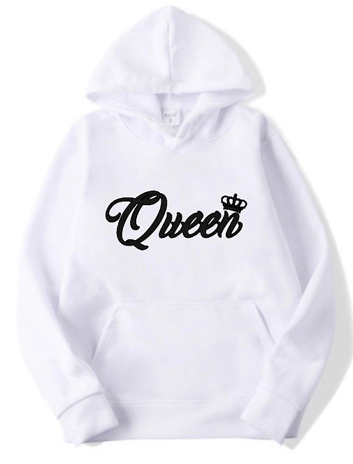 Queen Hoodie white