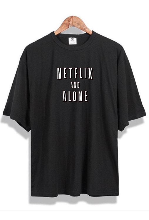 Netflix & Alone T-Shirt Black