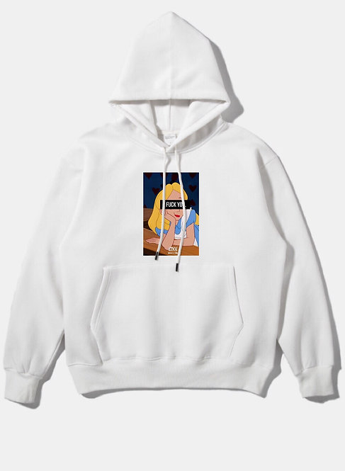 Fuck You Alice Hoodie White