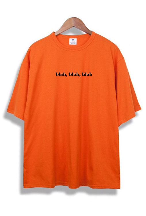 blah blah blah T-Shirt Orange