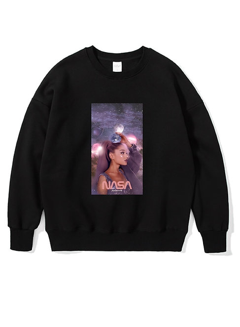 Ariana Grande Nasa Crewneck Black