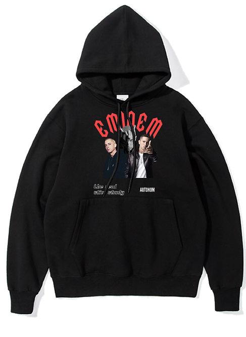 Retro Eminem Hoodie Black