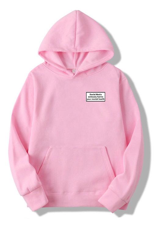 Social Media Hoodie Pink