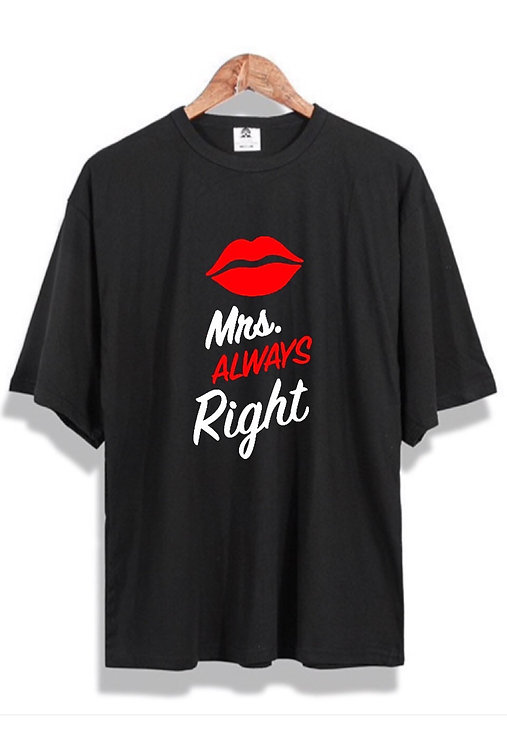 Mrs. Right Front Tee black