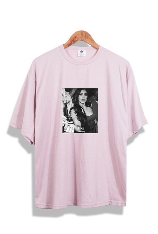 B/W Kylie Jenner T-Shirt Pink