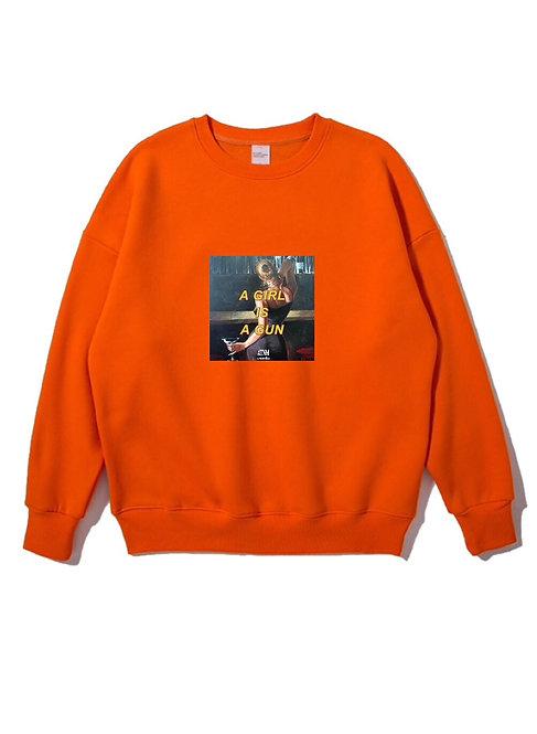 Girl Gun Crewneck Orange
