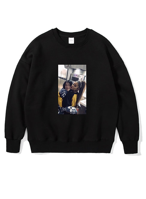Ariana Grande x Billie Eilish Crewneck Black