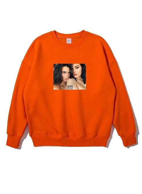 Feaky Kardashian Crewneck Orange
