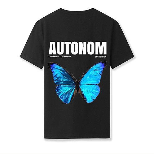 Back Blue Butterfly Shirt
