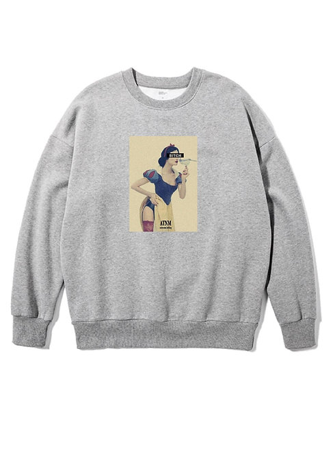 Vintage Bitch Crewneck Grey