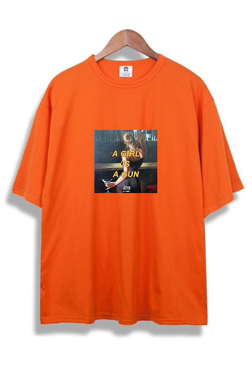 Girl Gun T-Shirt Orange