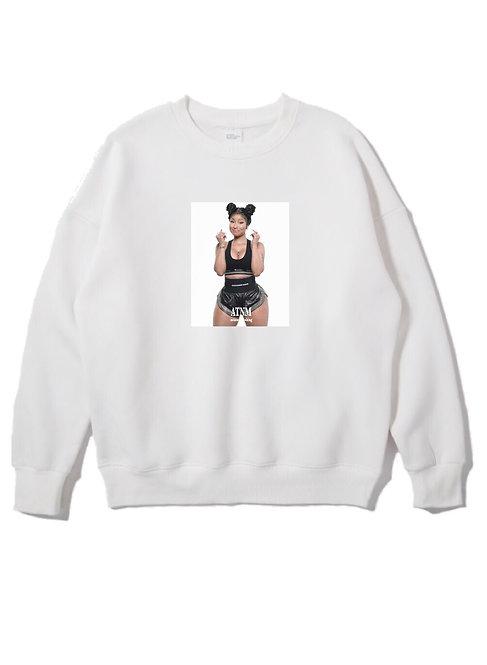 Nicki Minaj Crewneck White