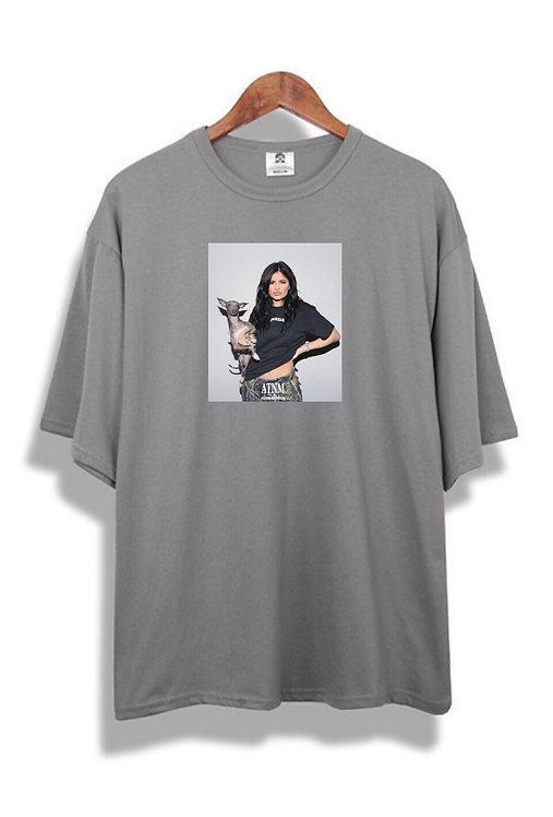 Kylie Jenner T-Shirt Grey