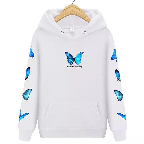 Full Blue Butterfly Hoodie