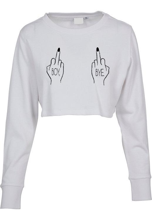 Boy Bye Fuck Crop Sweater