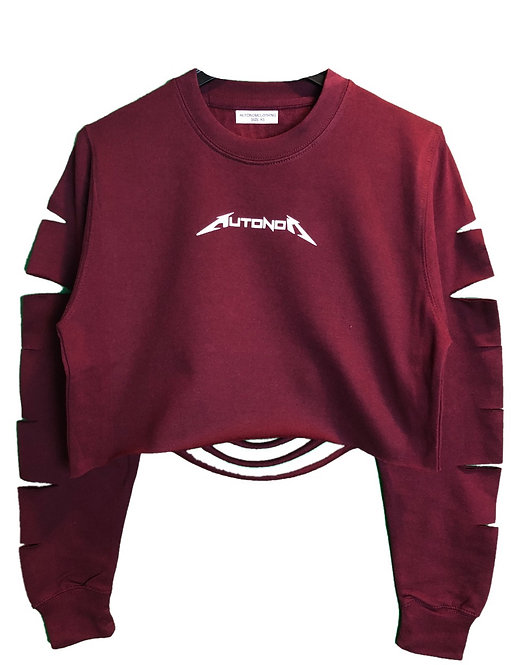 Dis Crop Metal Sweater