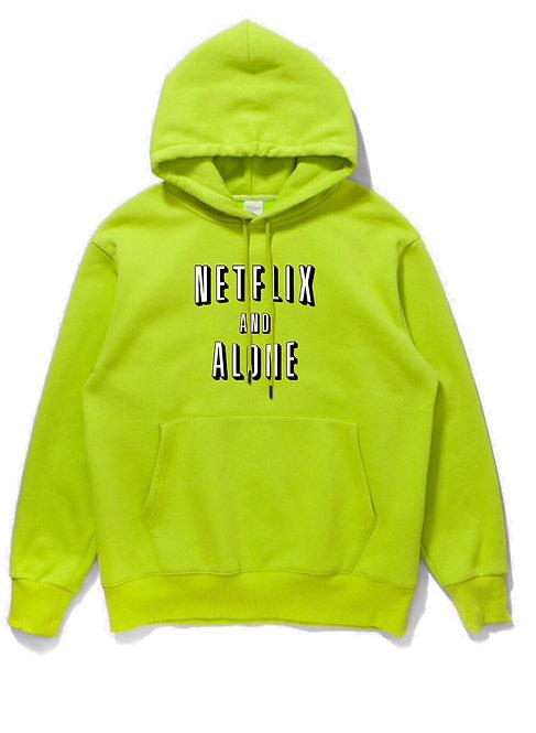 Netflix & Alone Hoodie Neon