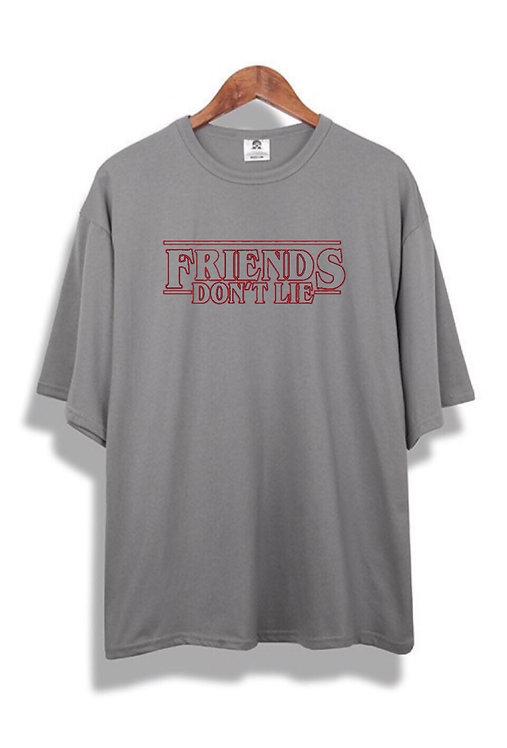 Friends Don't Lie T-Shirt Grey