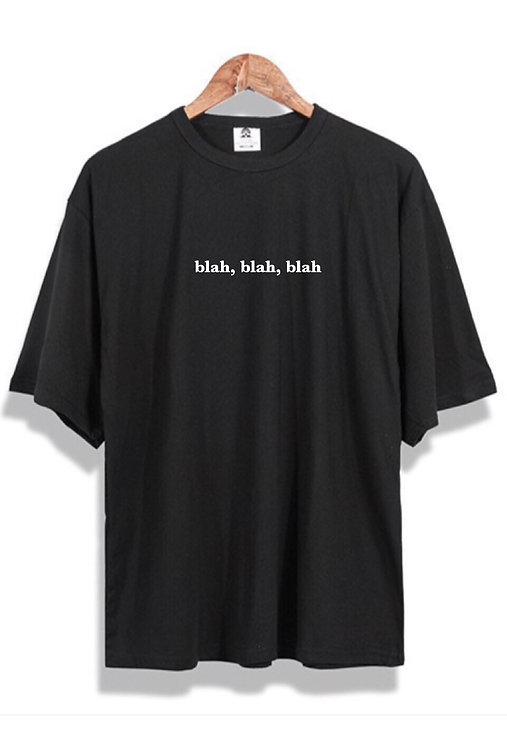 blah blah blah T-Shirt Black