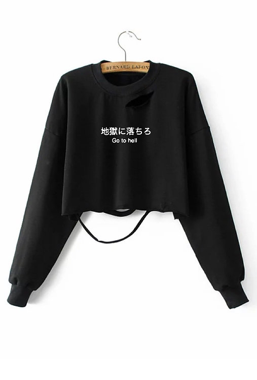 Go to Hell Dis Crop Sweater