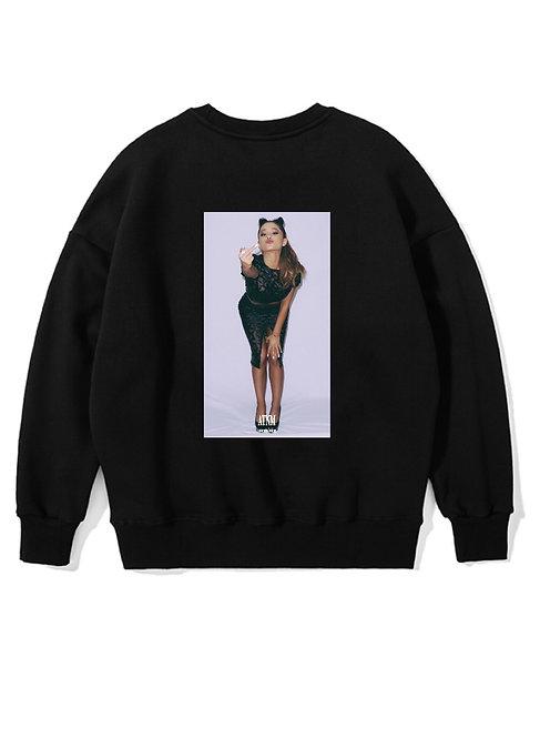 Ariana Grande Fuck Crewneck Black