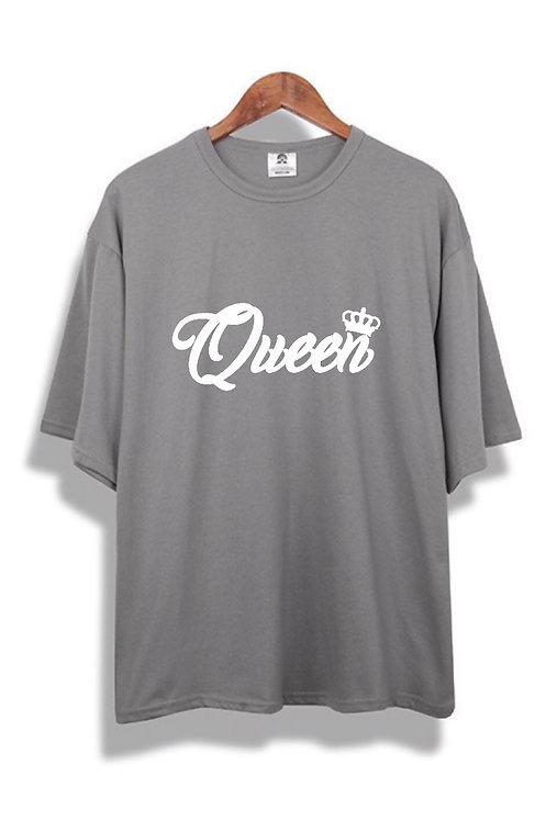 Queen Tee grey