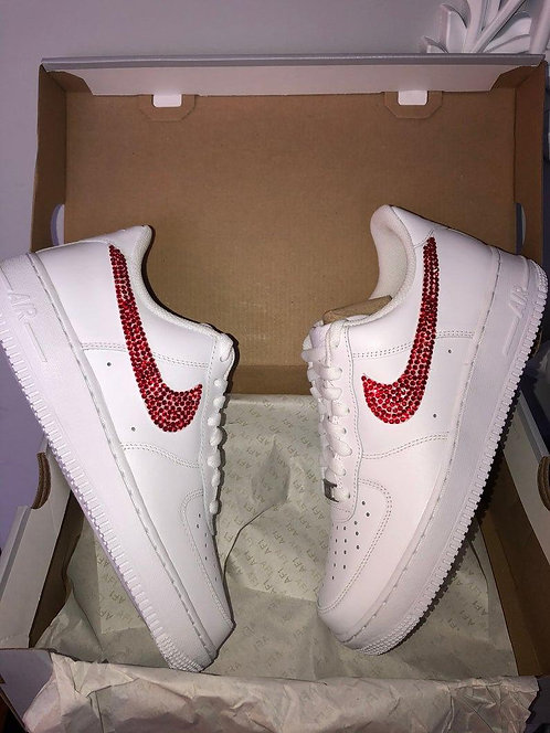 Air Force 1 Glitzer Red