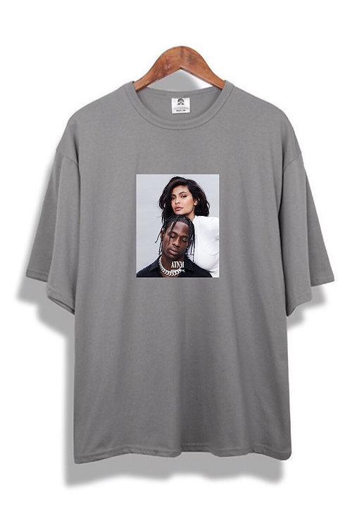 Kylie X Travis T-Shirt Grey