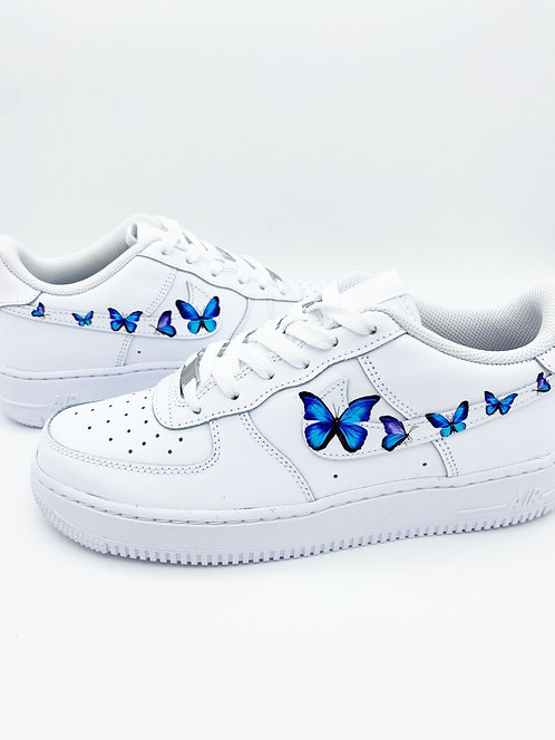 Air Force 1 Blue Butterfly Logo