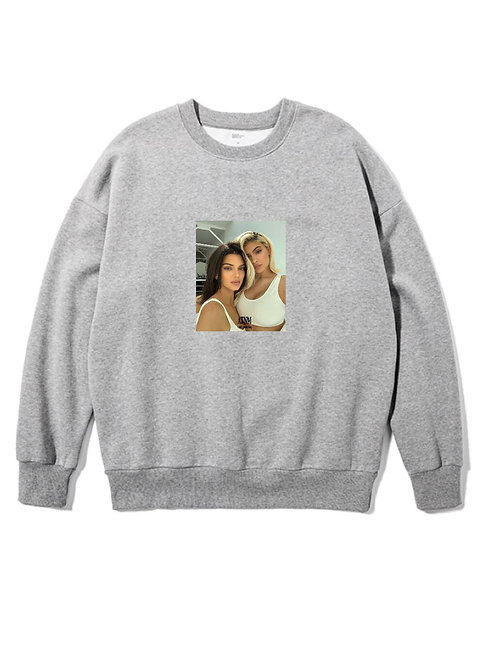 Kardashian Duo Crewneck Grey