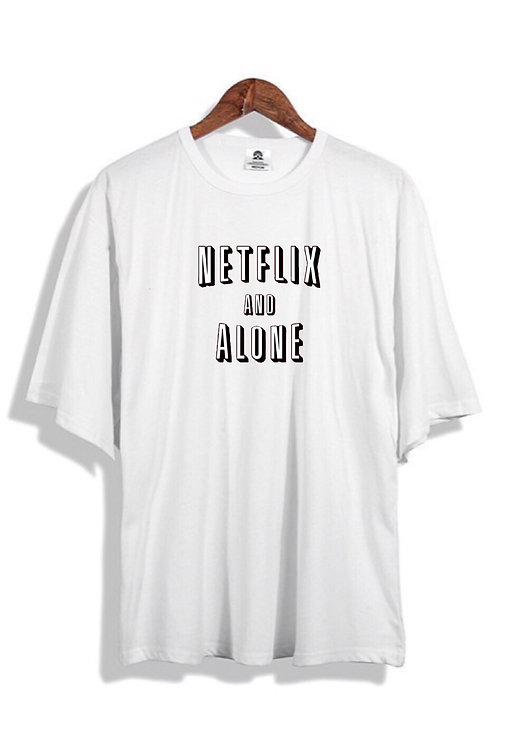 Netflix & Alone T-Shirt White