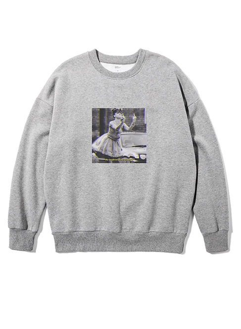 No Boy No Problem Crewneck grey