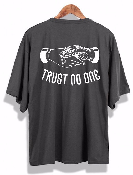 Trust No One Tee Grey