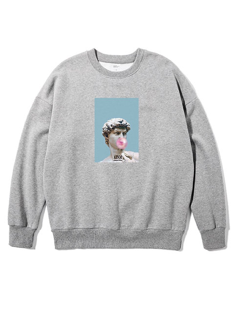 Bubble Gum Crewneck Grey