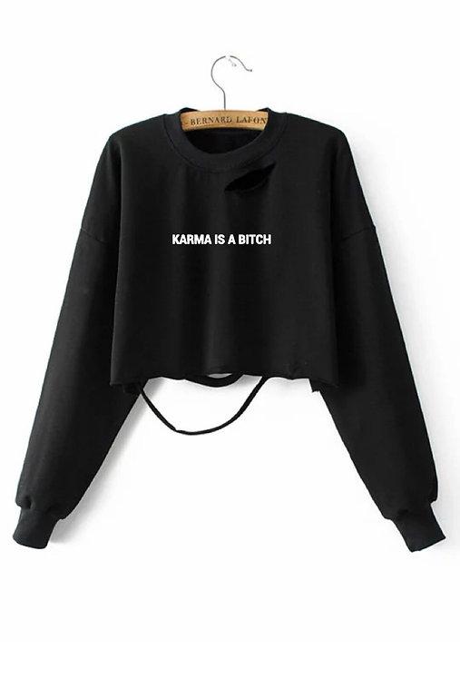 Karma Dis Crop Sweater