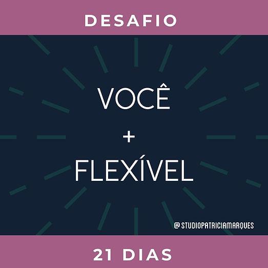 Desafio você + flexível