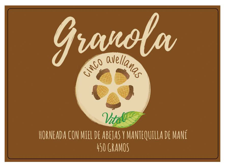 Granola cinco avellanas