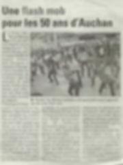 flash mob 50 ans Auchan (journal Les Nou