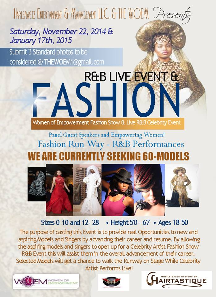 THE WOEM FASHION & R&B LIVE EVENT.