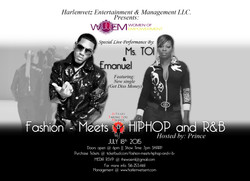 Fashion Meets HIPHOP and R&B Final Flyer 2015.