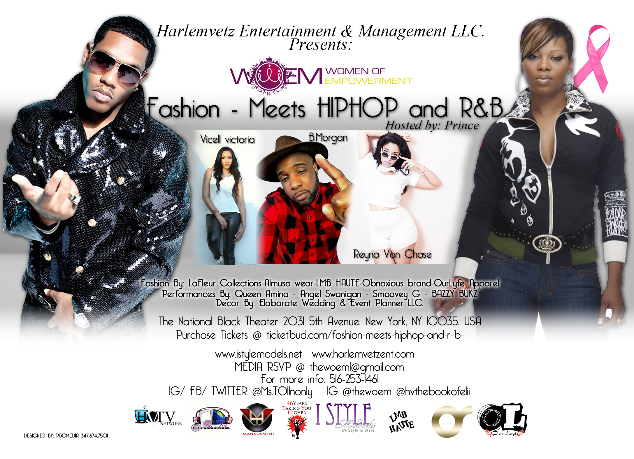Fashion Meets HIPHOP and R&B Back Flier Final 2015