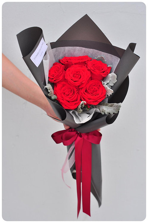 Magic Moment Red Roses Bouquet -6 Roses